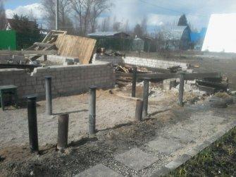 Ремонт разрушенной части фундамента