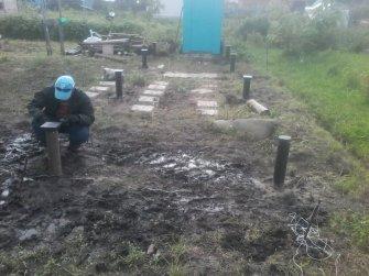 Фундамент на винтовых сваях 8,5х3 под баню