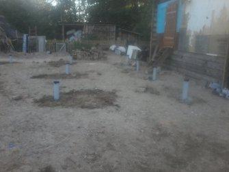 Свайно-винтовой фундамент для дома из бруса 7х9