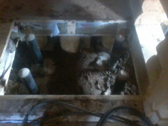 Фундамент под печь в доме на винтовых сваях