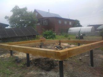Фундамент для бани на винтовых сваях - 55800 рублей