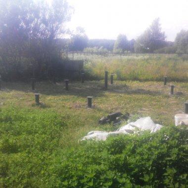 Фундамент для бани на винтовых сваях за 50000 рублей