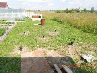 Свайно-винтовой фундамент под две пристройке к бане