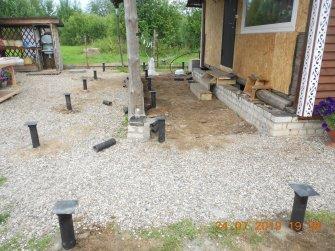 Фундамент для каркасной пристройки к деревянному дому