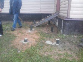 Фундамент под крыльцо каркасного дома на винтовых сваях
