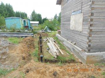 Строительство свайно-винтового фундамента под веранду