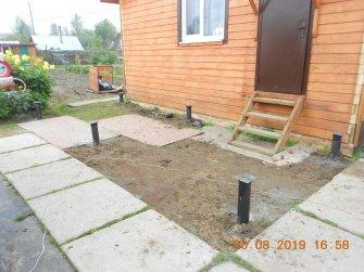 Фундамент под деревянное крыльцо 6 на 2 к дому