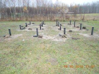 52600 рублей: винтовой фундамент для дома из бруса 6 на 6