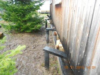 Подъем дома на винтовые сваи и укрепление фундамента швеллером - фото 6