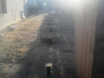 Монтаж винтовых свай под навес в Череповце