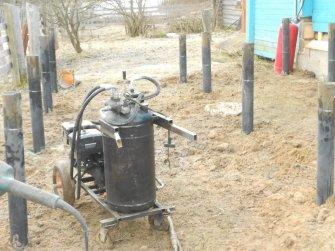Установка винтовых свай под пристройку к дому 7000х4000 мм