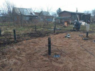 Монтаж фундамента на винтовых сваях для хоз.постройки