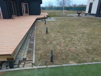 Монтаж фундамента на винтовых сваях для дополнительных построек